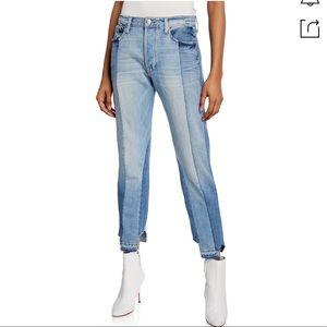 FRAME Nouveau Le Mix Two-Tone Boyfriend Jeans
